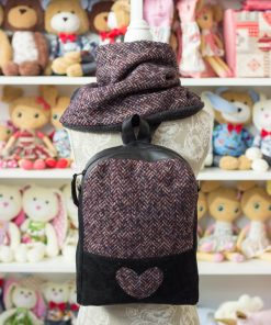 дамска раница и зимен шал - комплект