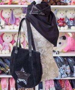 комплект чанта и шал - звезда