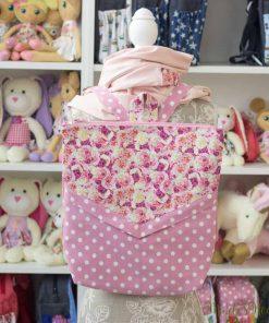 розова раница и шал на цветя в елегантен дамски комплект за НЕЯ