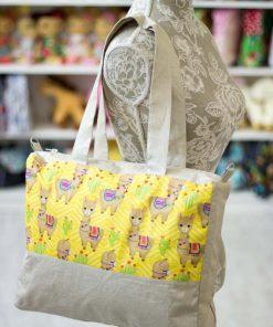 дамска чанта от лен за лятото