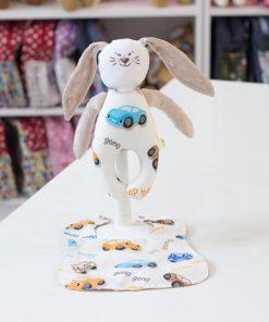 бебе комплект - играчка с лигавник