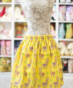 жълта пола с ластик