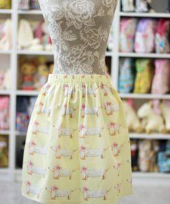 дамска пола на дакели, с ластик