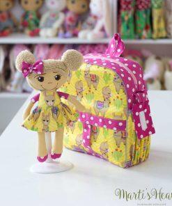 раничка за момиче в комплект с играчка - кукла