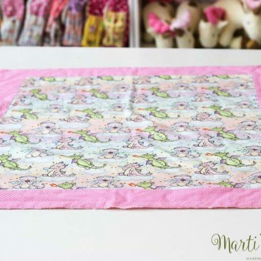 розово одеалце за новородено бебе
