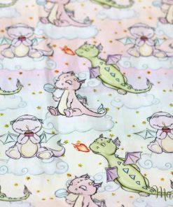 десен дракончета, за завивка на новородено бебе момиченце