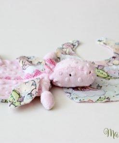 Мека плюшена играчка в розово на дракончета
