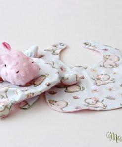мека играчка за бебе момиченце (на хипопотами)