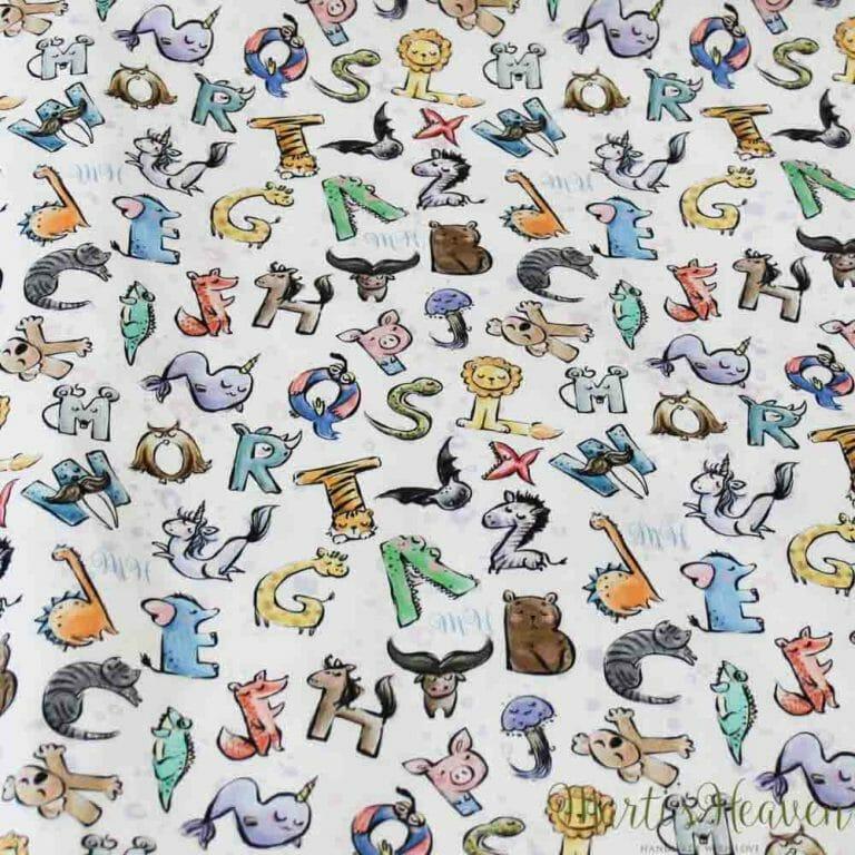 Marti's Heaven принт - букви, животни