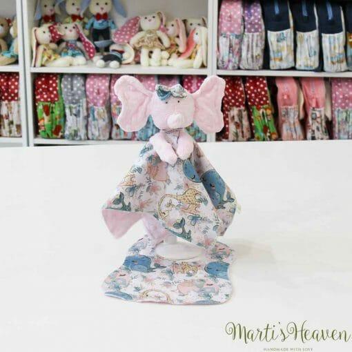 Мека и нежна играчка от Marti's Heaven - слонче с лигавник